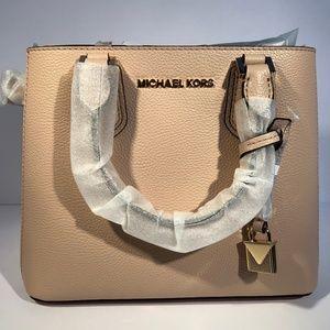 Michael Kors Adele Medium Messenger Leather Ballet